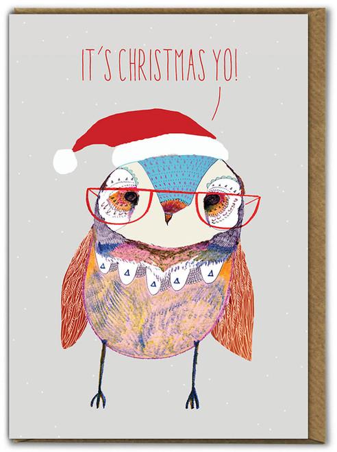 Owl It's Christmas Yo! Christmas Card