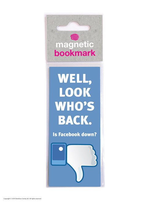 Facebook Down Magnetic Bookmark