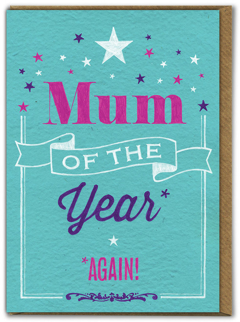 Mum Of The Year Mother's Day Card