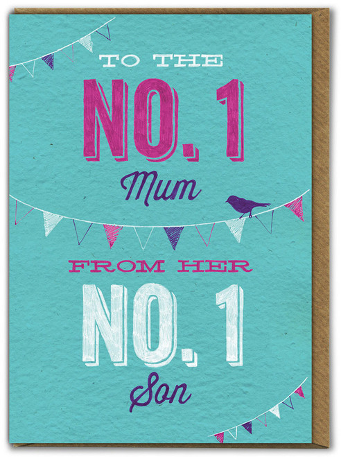 Number 1 Son Birthday / Mother's Day Card