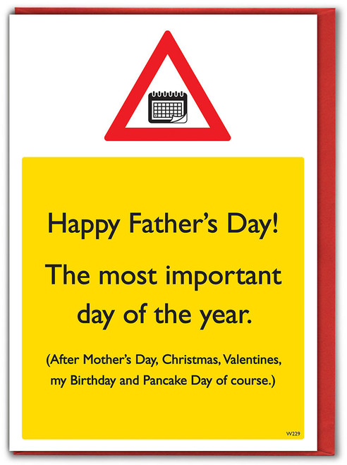 Most Important Day Father's Day Card