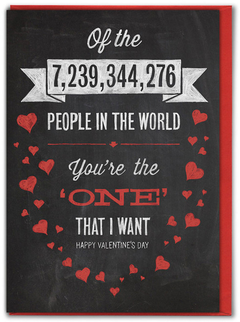 One That I Want Valentine's Day Card