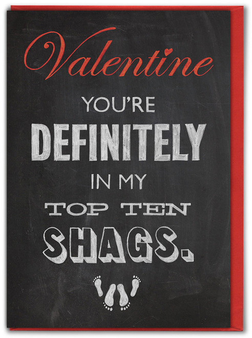 Top Ten Shags Valentine's Day Card