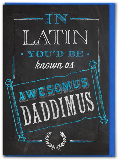Awesomus Daddimus Fathers's Day Card