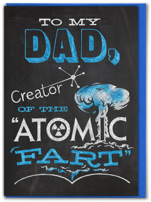 Atomic Fart Father's Day Card