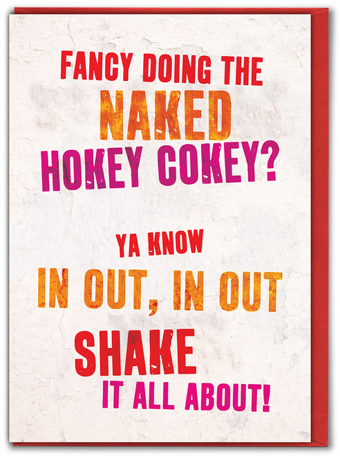 Naked Hokey Cokey Valentine's Day Card