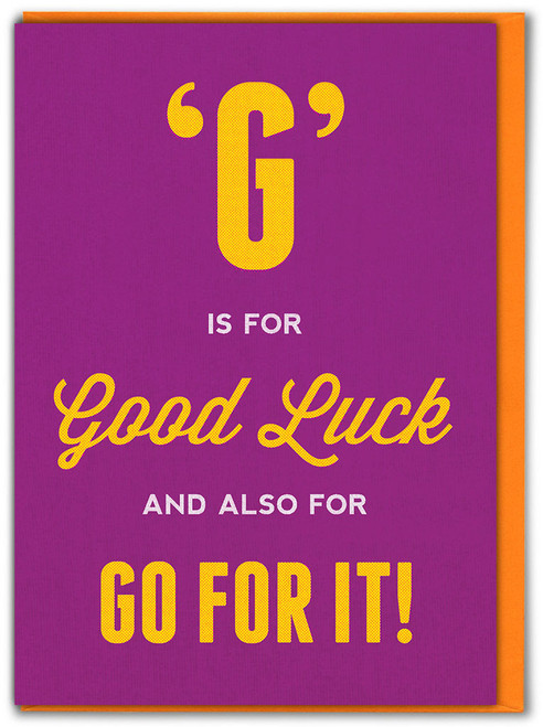 G Is For Good Luck