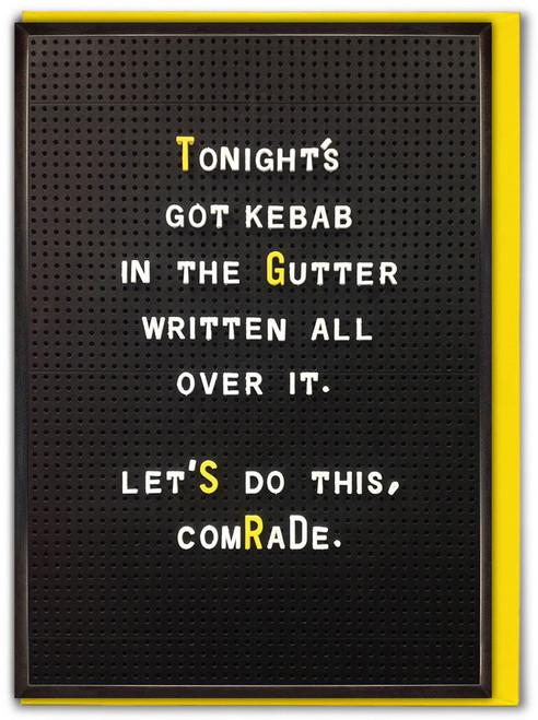 Kebab In The Gutter Birthday Card