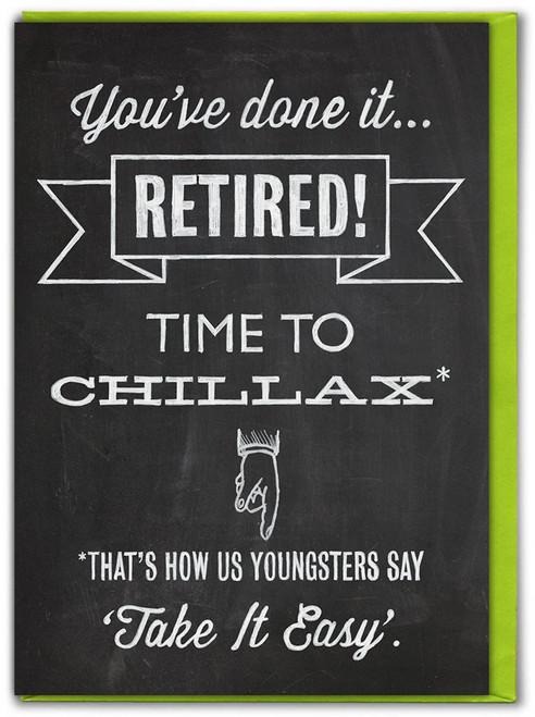 Chillax Retirement Card