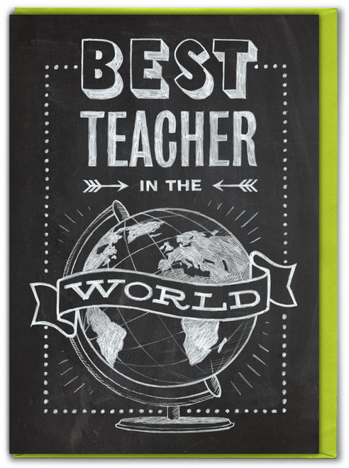 Best Teacher Greeting Card