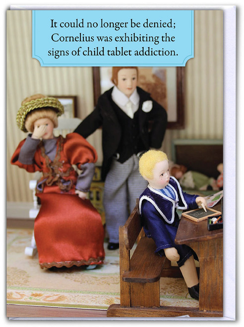 Tablet Addiction Birthday Card
