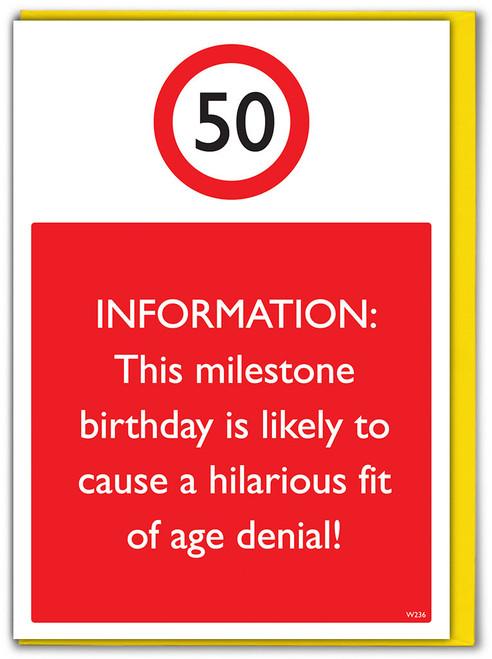 50th Birthday Greetings Card