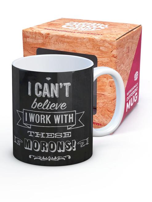 Work With Morons Boxed Mug