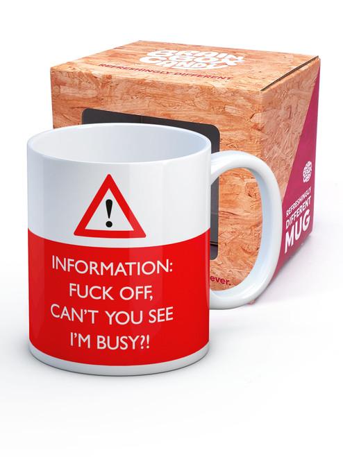 Fuck Off I'm Busy Boxed Mug