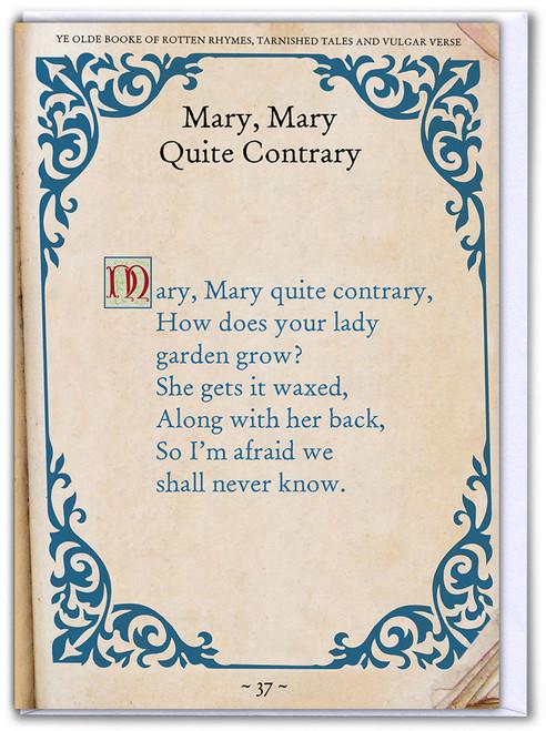 Mary Mary Quite Contrary Birthday Card
