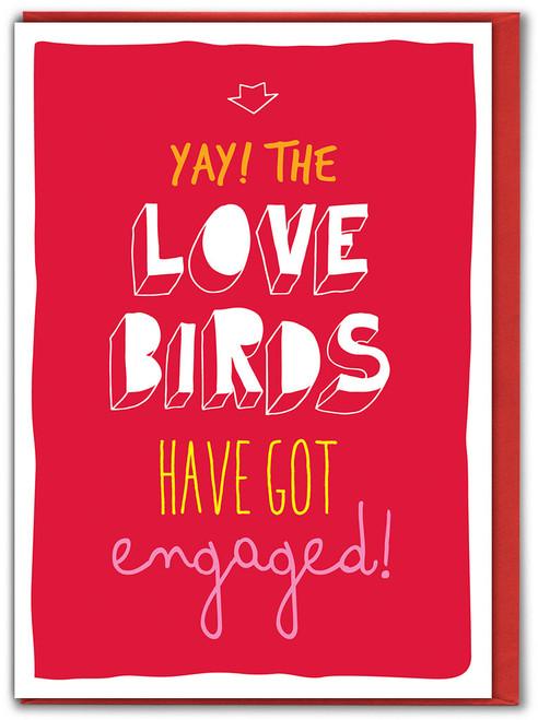 Love Birds Engagement Card (SK038)