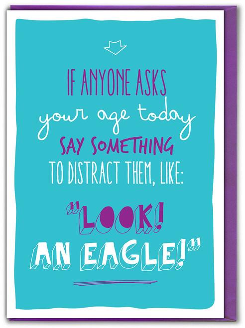 Look! An Eagle! Birthday Card
