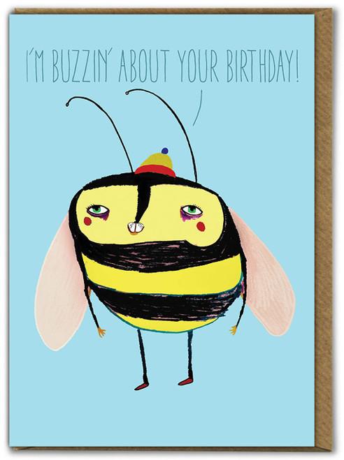 Buzzin' Birthday Card