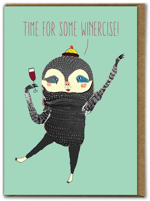 Winercise Birthday Card
