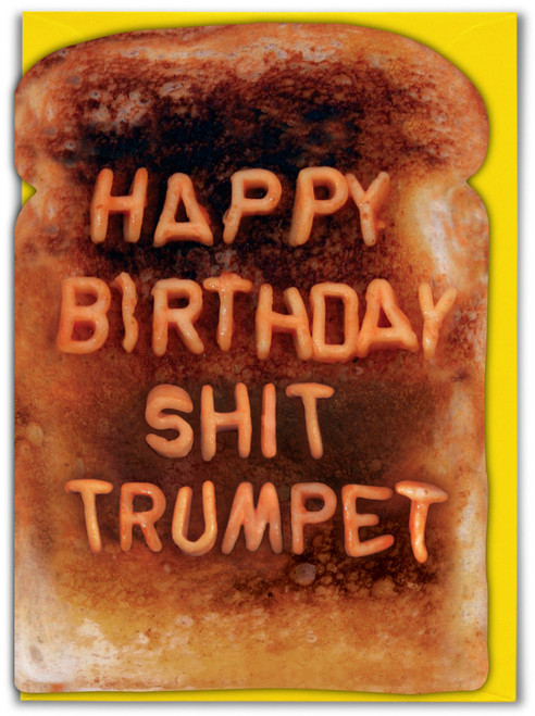 Shit Trumpet Birthday Card