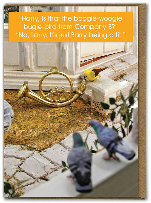 Barry Being A Tit Birthday Card