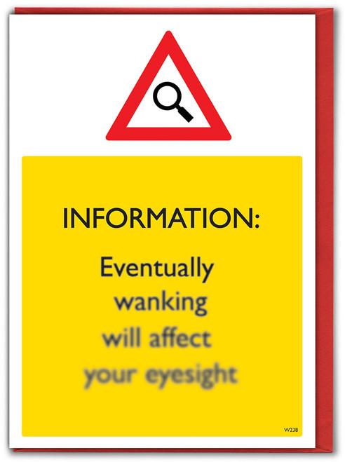 Wanking Eyesight Birthday Card