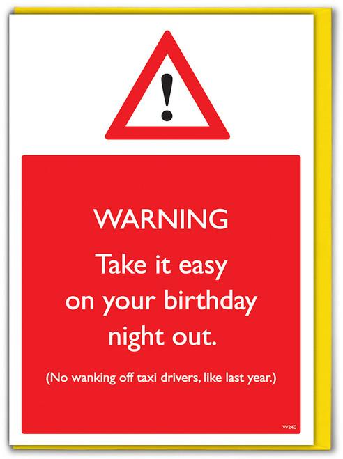 Take It Easy Birthday Card