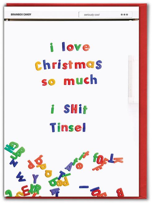 I Shit Tinsel Christmas Card