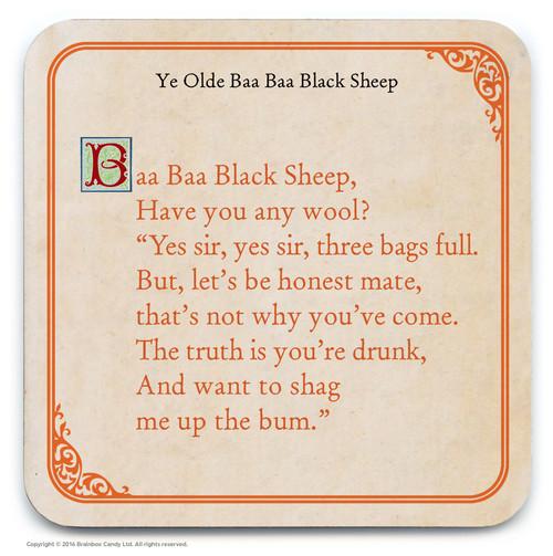 Baa Baa Black Sheep Coaster