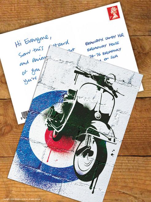 Reto Scooter Postcard