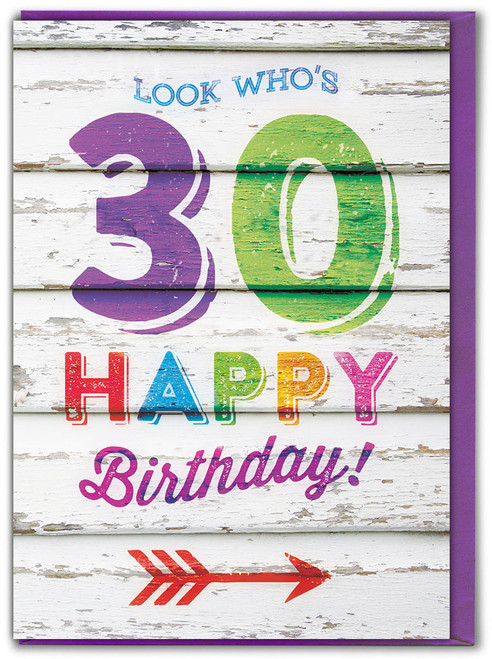 Look Who's 30 Birthday Card