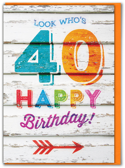 Look Who's 40 Birthday Card
