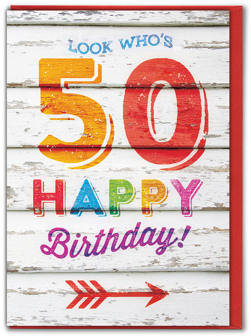 Look Who's 50 Birthday Card
