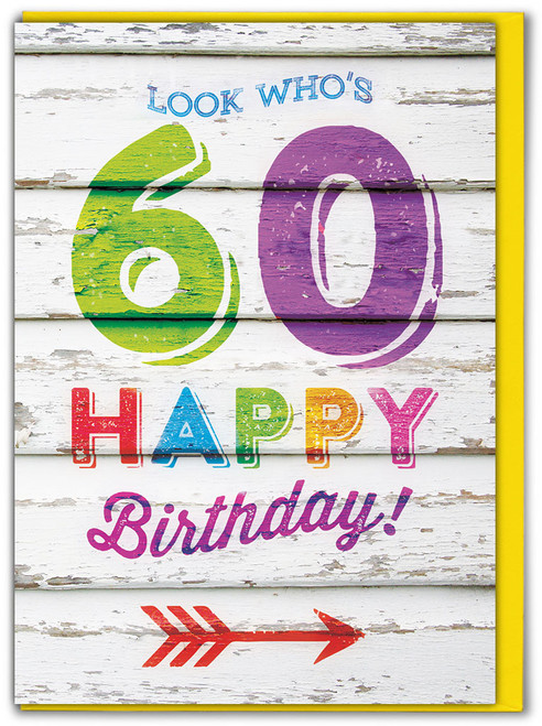 Look Who's 60 Birthday Card