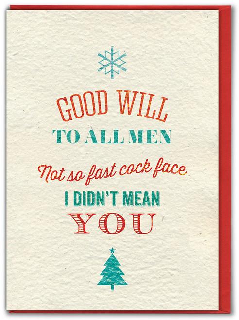 Good Will Christmas Card