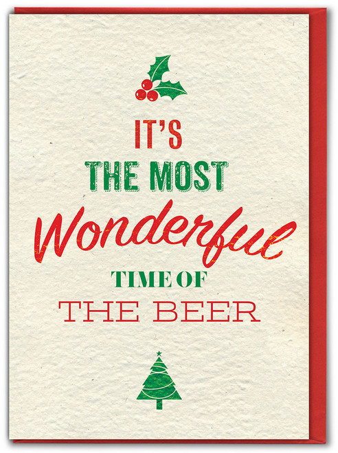 Wonderful Time Of The Beer Christmas Card