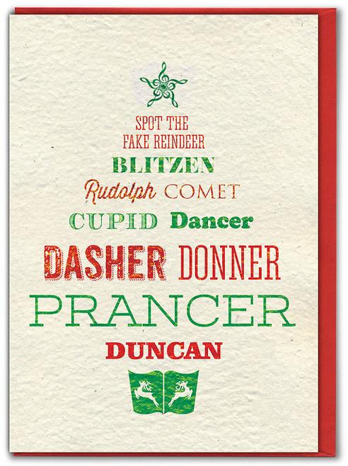 Spot The Fake Reindeer Christmas Card