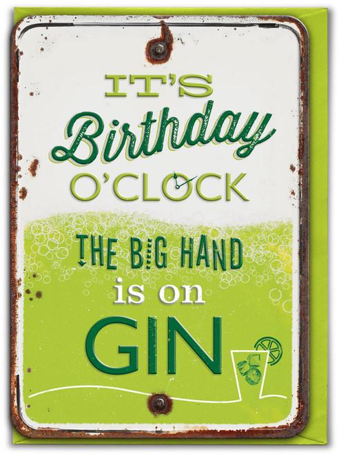 Birthday O'Clock Embossed Birthday Card