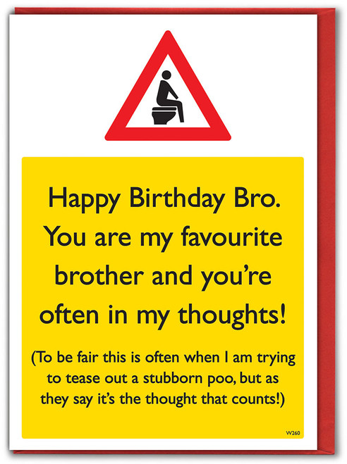 Brother Poo Thoughts Birthday Card