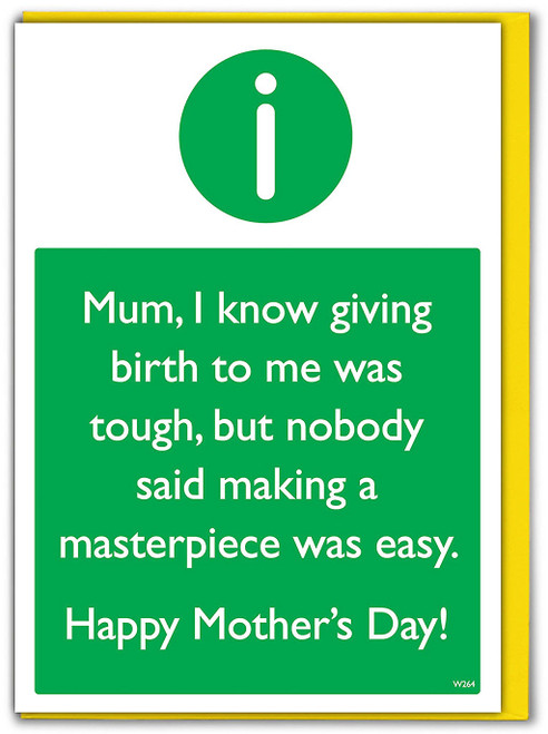 Masterpiece Mum Mother's Day Card