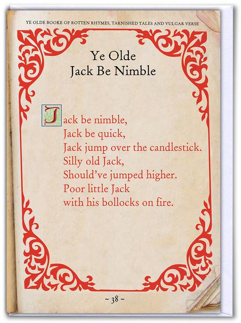 Jack Be Nimble Birthday Card