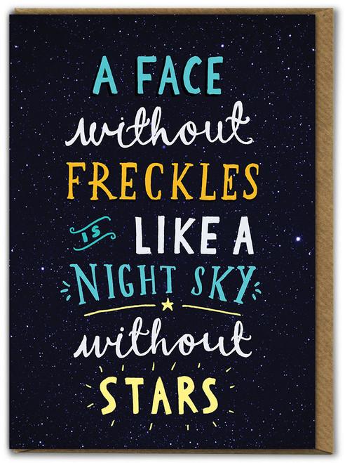Freckles Birthday Card