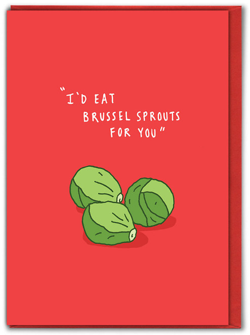 Brussel Sprouts Christmas Card