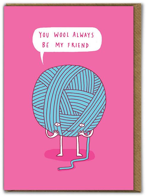 Wool Be Friends Birthday  Card