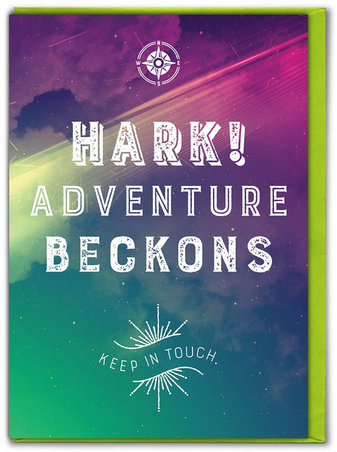 Adventure Beckons Bon Voyage Card