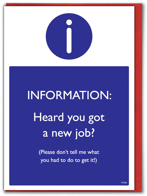 New Job Don't Tell Me Card