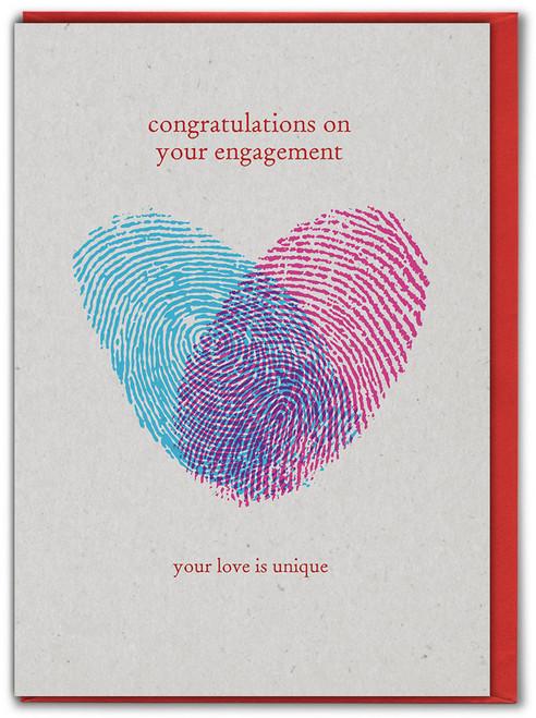 Fingerprint Love Engagement Card
