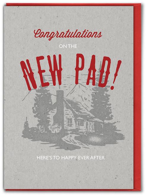 New Pad Letterpress New Home Card