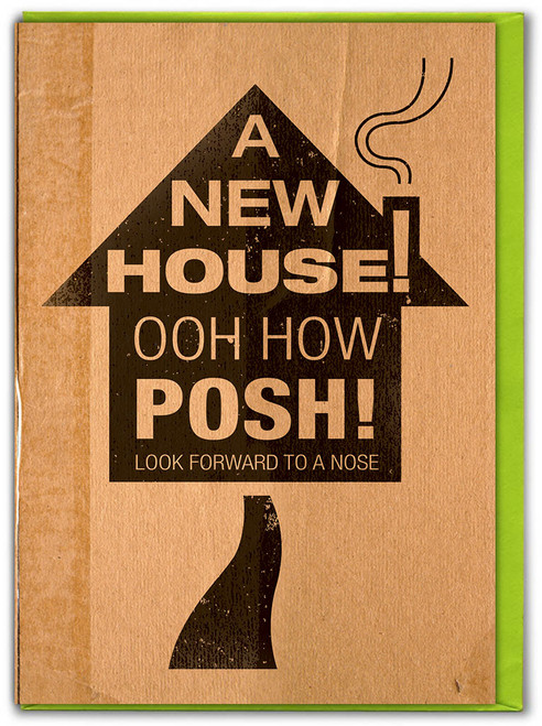 A New House How Posh New Home Card