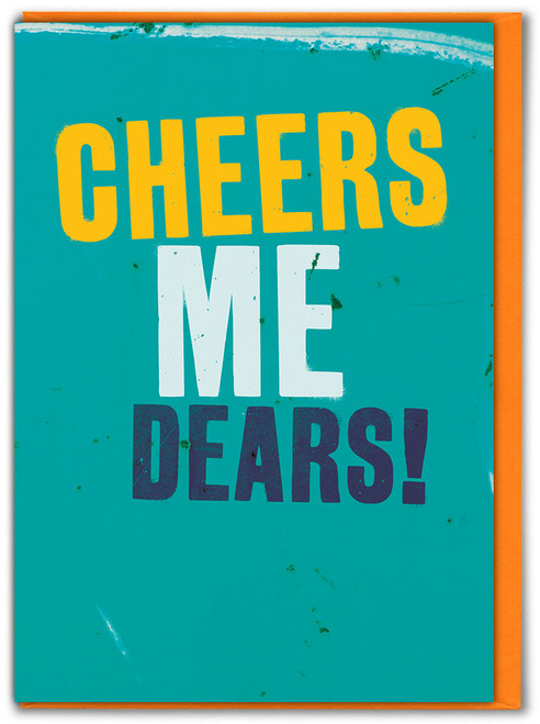 Cheers Me Dears Thank You Card - Multi Pack Options Available